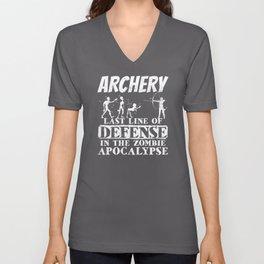 Archery Archer bow and arrow Unisex V-Neck