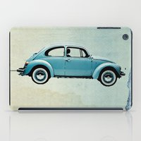 vw iPad Cases featuring Water Landing VW beetle by Vin Zzep