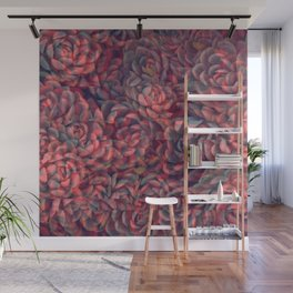 Glitchy Succulents Wall Mural