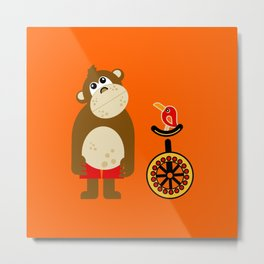 Mr. Mokey Metal Print