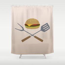 Jolly Burger Shower Curtain