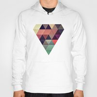 geometric Hoodies featuring tryypyzoyd by Spires
