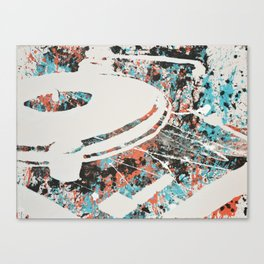Paint Out Loud-Record Player Canvas Print