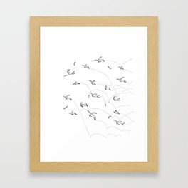 Crazy Rabbits Framed Art Print