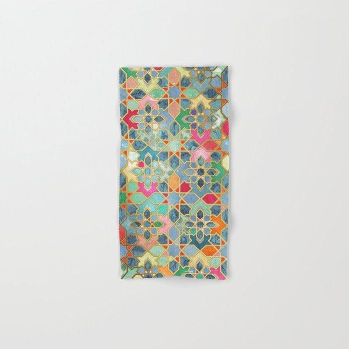 Gilt & Glory - Colorful Moroccan Mosaic Hand & Bath Towel
