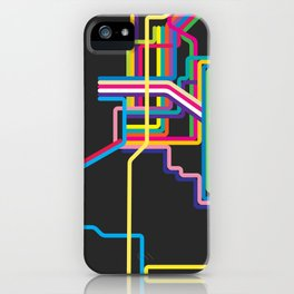 kolkata metro map iPhone Case