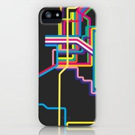 kolkata metro map iPhone Case