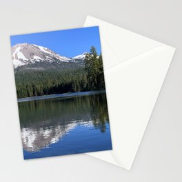 Mountain Lake Reflections : Lassen National Park Stationery Cards