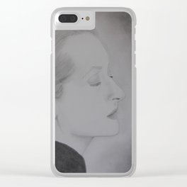 Meryl Streep Profile Clear iPhone Case