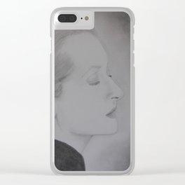 Meryl Streep Profile Clear iPhone Case