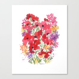 Little Red Poppy Patch Canvas Print