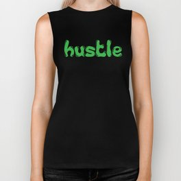 Hustle Green Biker Tank