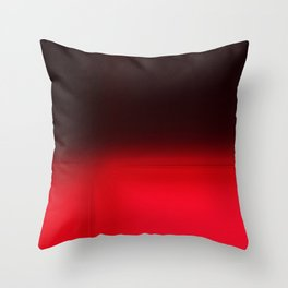 Red Ombré Block Design Throw Pillow