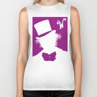 willy wonka Biker Tanks featuring Willy Wonka Tribute Poster by stefano manca