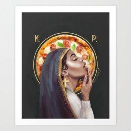 In PIZZA we trust Art Print