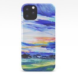 Evening on the farm iPhone Case