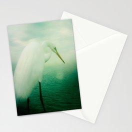 White Egret Stationery Cards