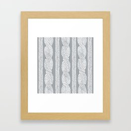 Cable Grey Framed Art Print