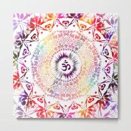 Radiant Om Mandala Metal Print