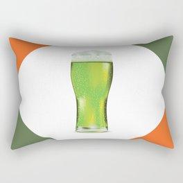 Green beer glass Rectangular Pillow