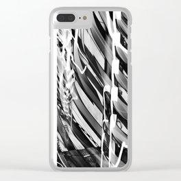 Light Dance Dark Stripes Clear iPhone Case