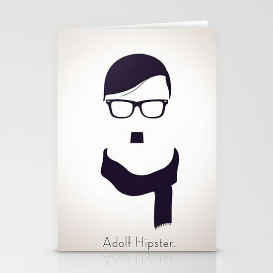Adolf Hipster  Stationery Cards