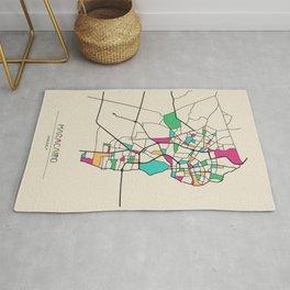 Colorful City Maps: Maracaibo, Venezuela Rug