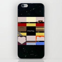 All Good Things - square Minimalist Star Trek TNG The Next Generation 1701 D  startrek  Trektangles iPhone Skin