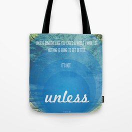 Unless | Blue Tote Bag
