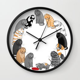 A Cat's Patience Wall Clock