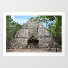 Coba Temple Mexico Maya Mayan Archaeology Anthropology Architecture Ancient Historical Jungle Art Print
