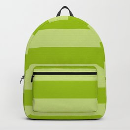 Bright Pistachio Nut Green Wide Cabana Stripes Backpack