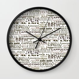 Coffee - In So Many Words Wall Clock