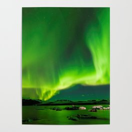 Northern Lights In Iceland Poster