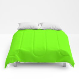 Bright Fluorescent  Green Neon Comforters