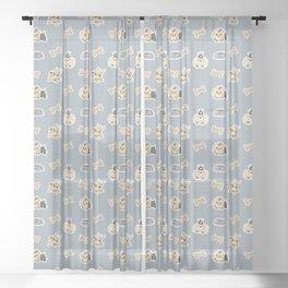 I love my Yorkie Sheer Curtain