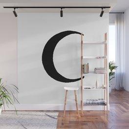 Black Crescent Moon Wall Mural