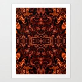 Chocolate absract Art Print