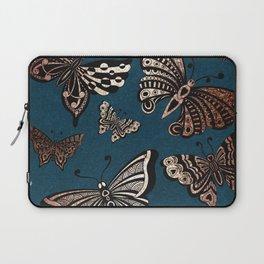 Metallic Butterflies Laptop Sleeve