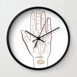 Mystical Palm Hand Zodiac Wall Clock