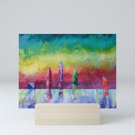 Crystal Monoliths Mini Art Print