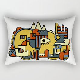 African Creature Rectangular Pillow