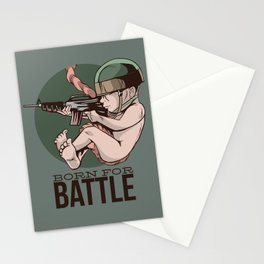 Born For Battle Stationery Cards