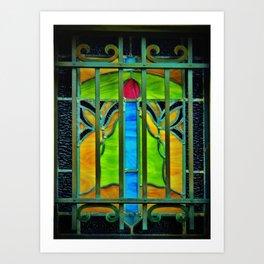 Mausoleum Stained Glass Art Print