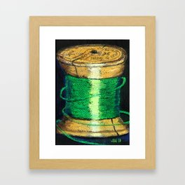 green spool of thread Framed Art Print