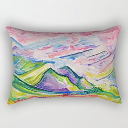 mountain haze Rectangular Pillow