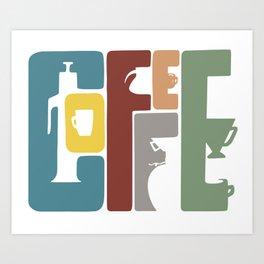 COFFEE - multicolored Art Print