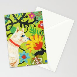 Spring Jindo Dog Stationery Cards