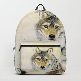Totem Grey wolf Backpack
