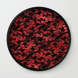 Red Drape Wall Clock